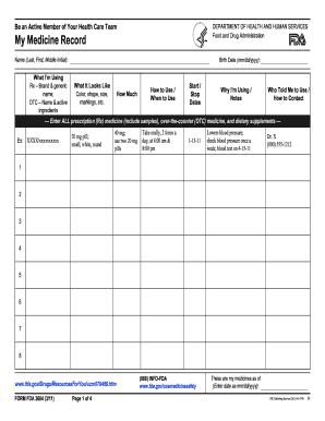 Medication List Form - Fill Online, Printable, Fillable, Blank ...