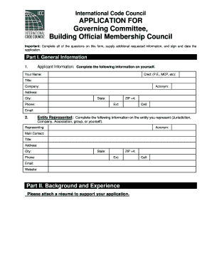 bomc governing committee form