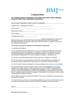 informed consent form thesis The irb will not approve any project without a proper informed consent form informed consent i have been informed that my participation in this research study is.
