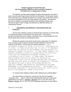 Federal Search Warrant Form