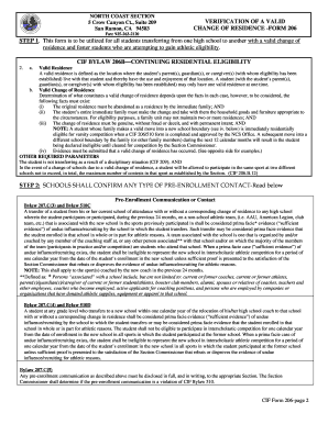 North Coast Section 206 Form - Fill Online, Printable ...