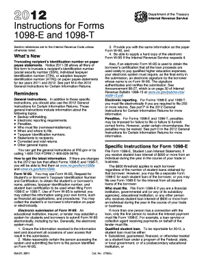 fillable 2010 form 1098 e