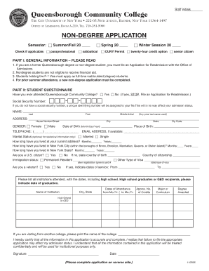 community college application