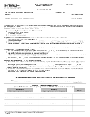 pc 400 probate 2001  form