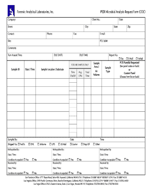 Forensic Analytical Chain Of Custody Fill Online Printable Fillable Blank Pdffiller