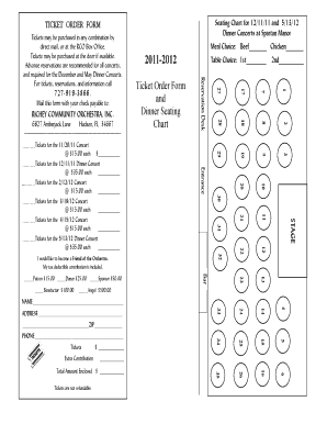 seating chart form