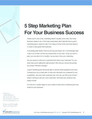 5 Step Marketing Plan For Your Business Success - VerticalResponse
