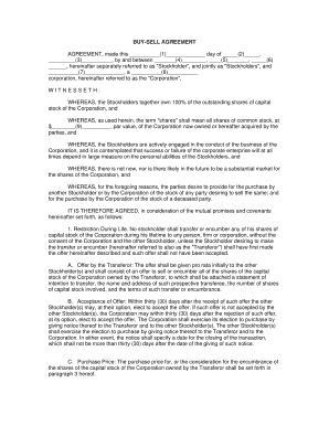 Fillable Buy Sell Agreement Form Arizona - Fill Online, Printable ...