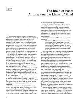 Alexander Graham Bell Essay Fillable Online Calteches Library Caltech The Brain Of Pooh  An Essay On  The Limits Of Mind  Calteches Library Caltech Fax Email Print  Pdffiller Ethnographic Essay Example also Introduction Paragraph Of An Essay Fillable Online Calteches Library Caltech The Brain Of Pooh  An  Essay For Nursing