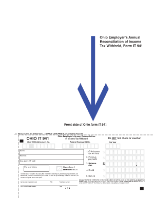 Ohio It 941 - Fill Online, Printable, Fillable, Blank | PDFfiller