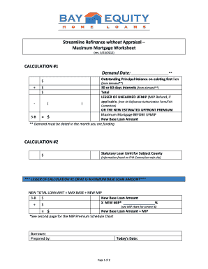 Printables Fha Streamline Refinance Worksheet fha streamline worksheet 2016 intrepidpath refinance with appraisal worksheets
