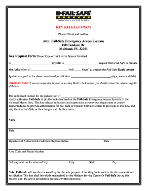 Key Release Form - Fill Online, Printable, Fillable, Blank | PDFfiller