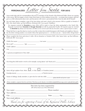 image regarding Blank Letter Template titled blank santa letter template - Edit, Print, Fill Out