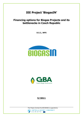 Financing for biogas projects in Czeck Republic and its ... - BiogasIN