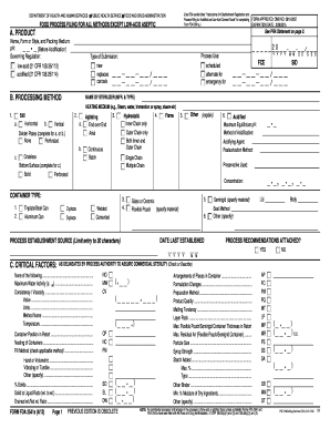 Form Fda Food  Method Statement Template Doc