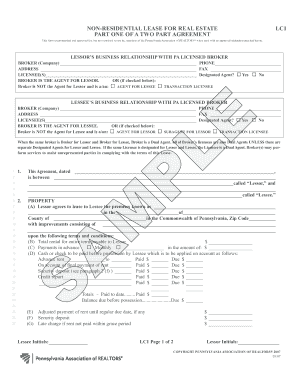 1194993 Pennsylvania Star Mobile Home Manufactured Site Lease Agreement on