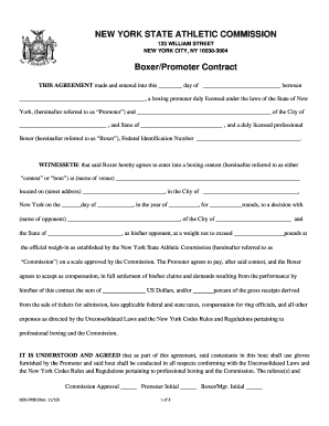 Fight Contract Template - Fill Online, Printable, Fillable, Blank ...