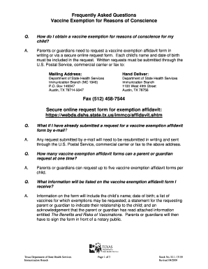 Affidavit Immunization Print Out  Blank Affidavit