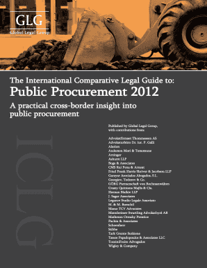 mergers in procurement 2012