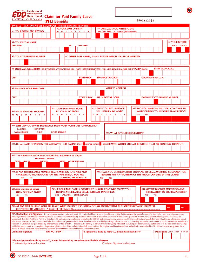 photograph regarding De 2501 Printable Form named De 2501f - Fill On the net, Printable, Fillable, Blank PDFfiller