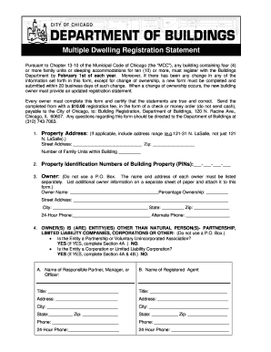 City Of Chicago Dept Of Building Registration - Fill Online ...