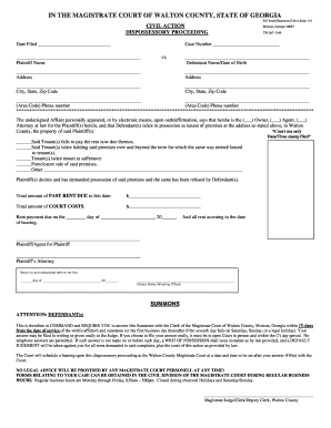 Dispossessory Walton County Ga Fill Online Printable Fillable - Eviction notice template ga
