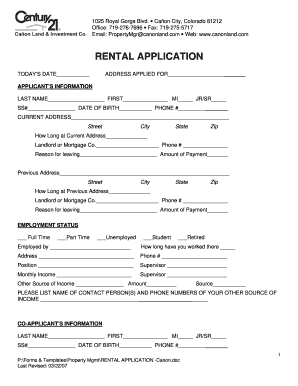 Century 21 Fillable Rental Application Fill Online