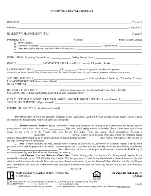 nc residential rental contract form 410 t  Standard Form 410 T Residential Rental Contract Doc - Fill Online ...