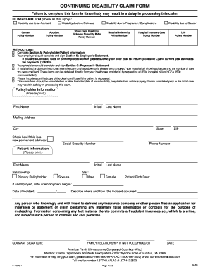 Physicians Disability Form
