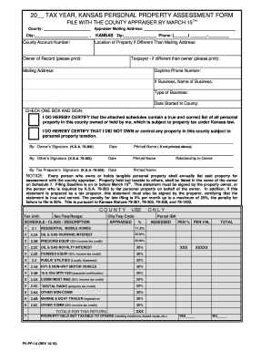 kansas personal property assessment form