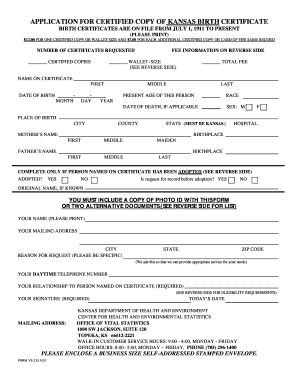 state of missouri birth certificate applications