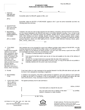Greater Boston Real Estate Board Purchase And Sale Agreement Form ...
