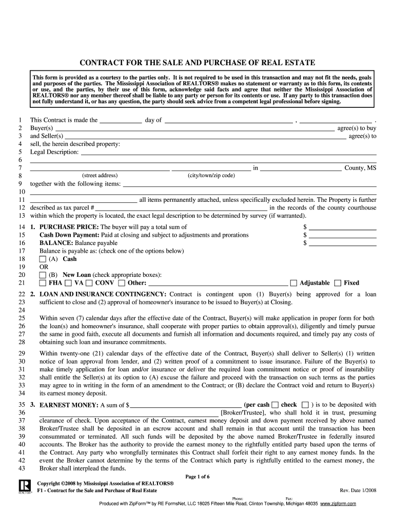 Michigan Real Estate Buy Sell Agreement Form Fill Online