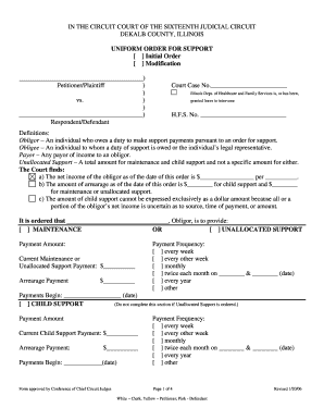 Fillable Online circuitclerk CHILD SUPPORT ORDER FORM.doc Fax ...