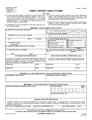 1987 Form SF 1199A Fill Online, Printable, Fillable, Blank - PDFfiller