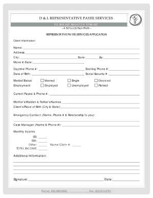 social security representative payee application form
