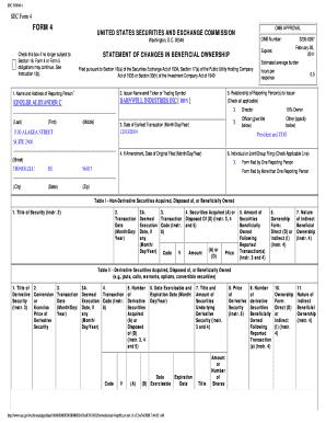 Sec Form 4 >> Sec Form 4 Fillable Form Fill Online Printable Fillable Blank