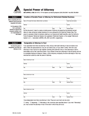 calpers power of attorney form