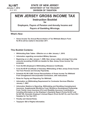 Nj Form 927 W - Fill Online, Printable, Fillable, Blank | PDFfiller