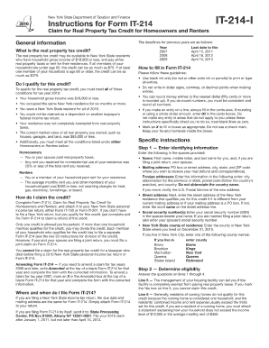 Tax Form It 214 And Instructions For 2014 - Fill Online, Printable ...