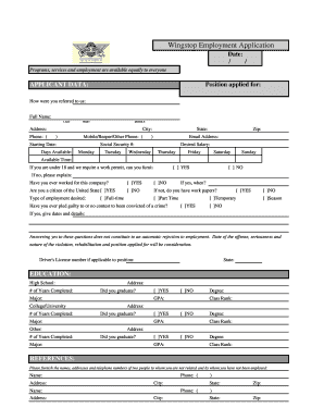 wingstop application form Fill Online, Printable, Fillable, Blank ...