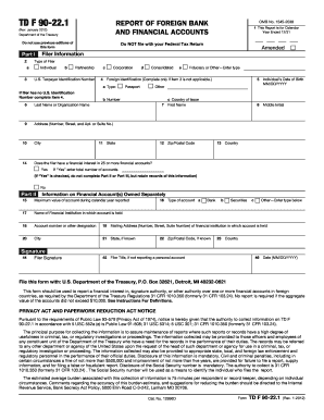 2012-2017 Form IRS TD F 90-22.1 Fill Online, Printable, Fillable ...