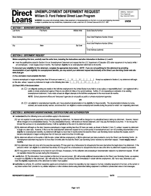 Sallie Mae Unemployment Deferment Fill Online Printable Fillable Blank Pdffiller