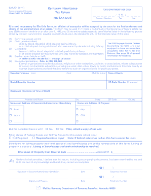 Kentucky Inheritance Tax Return - Fill Online, Printable, Fillable ...