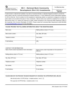 Occ And Cd 1 Form And Fillable - Fill Online, Printable, Fillable ...