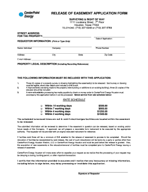 Forms To Release And Easement - Fill Online, Printable, Fillable ...