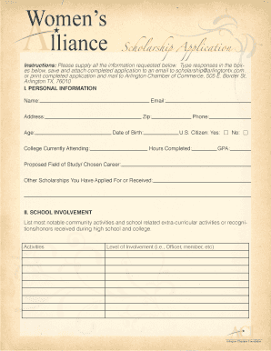 arlington chamber of commerce tx form