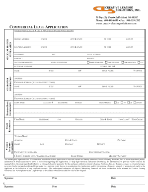 commercial lease new jersey form