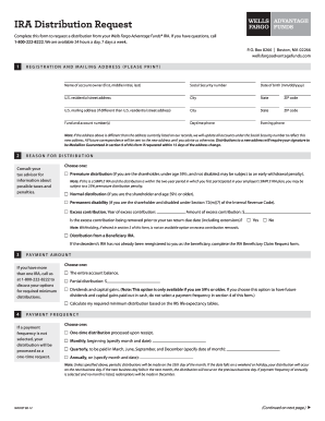 Wells Fargo Ira Withdrawal Form - Fill Online, Printable, Fillable ...