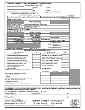 Form R B City Of Dayton - Fill Online, Printable, Fillable ...